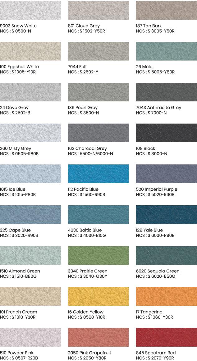 Acrovyn hoekbescherming design kleuren