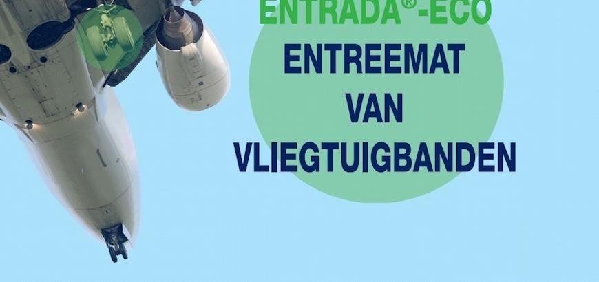 Entreematten gemaakt van gerecyclede vliegtuigbanden voor Schiphol
