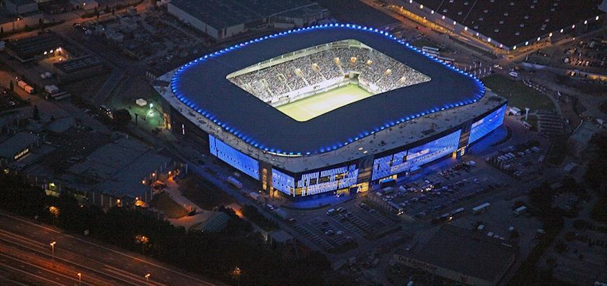 Entrada logomatten voor stadion AA Gent