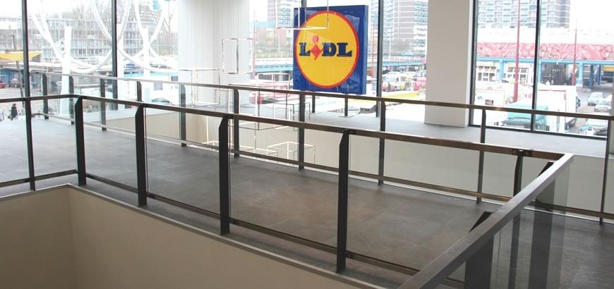 Storax glashekken voor winkelcentrum Boven 't Y te Amsterdam