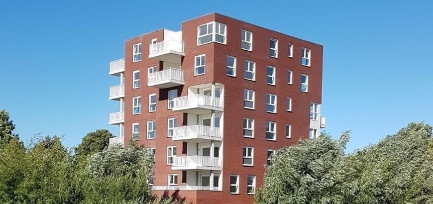 Storax levert Rhodium balkonhekken voor appartementencomplex Villa Zeno te Ulft