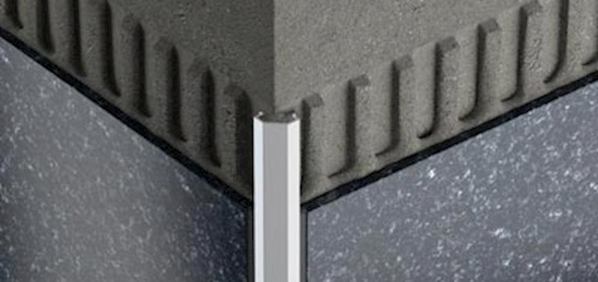 Nieuw Schlüter tegelprofiel met een 45° afgeschuinde rand